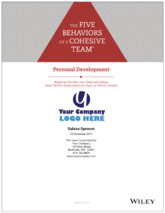 Five Behaviors Personal Development Report